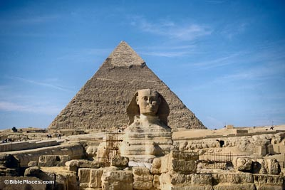 Pyramid with Sphinx