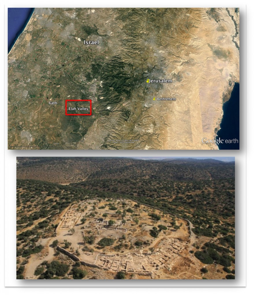 Elah Fortress with map